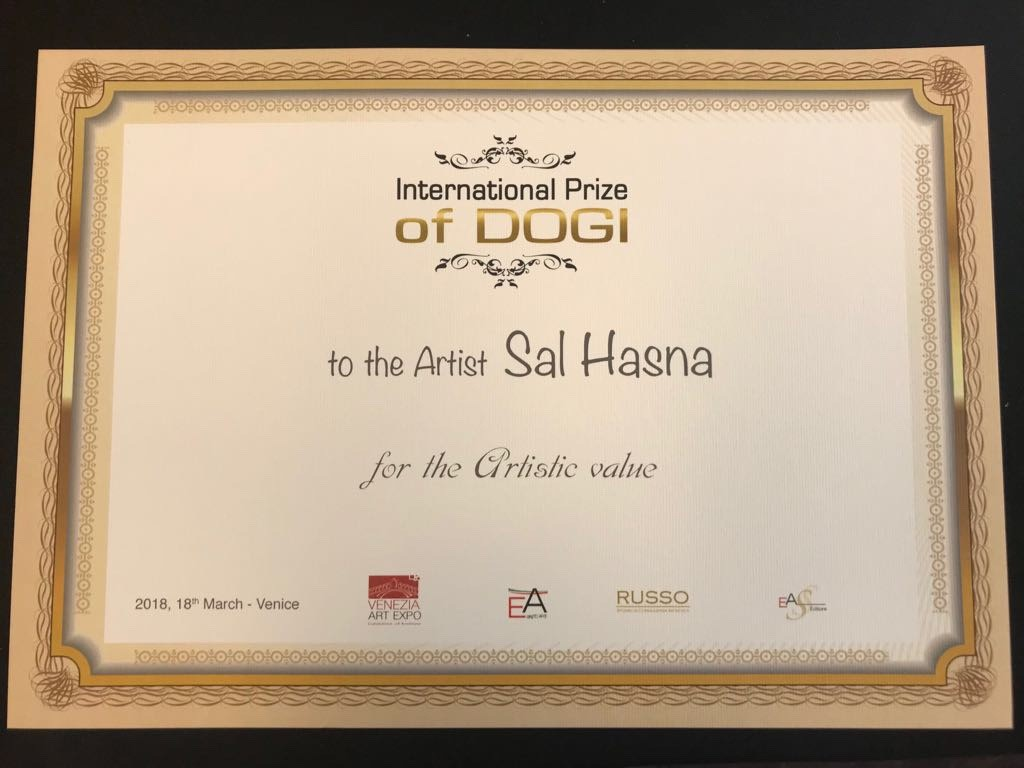 International Prize of DOGI to the Artist Sal Hasna for the Artistic Value