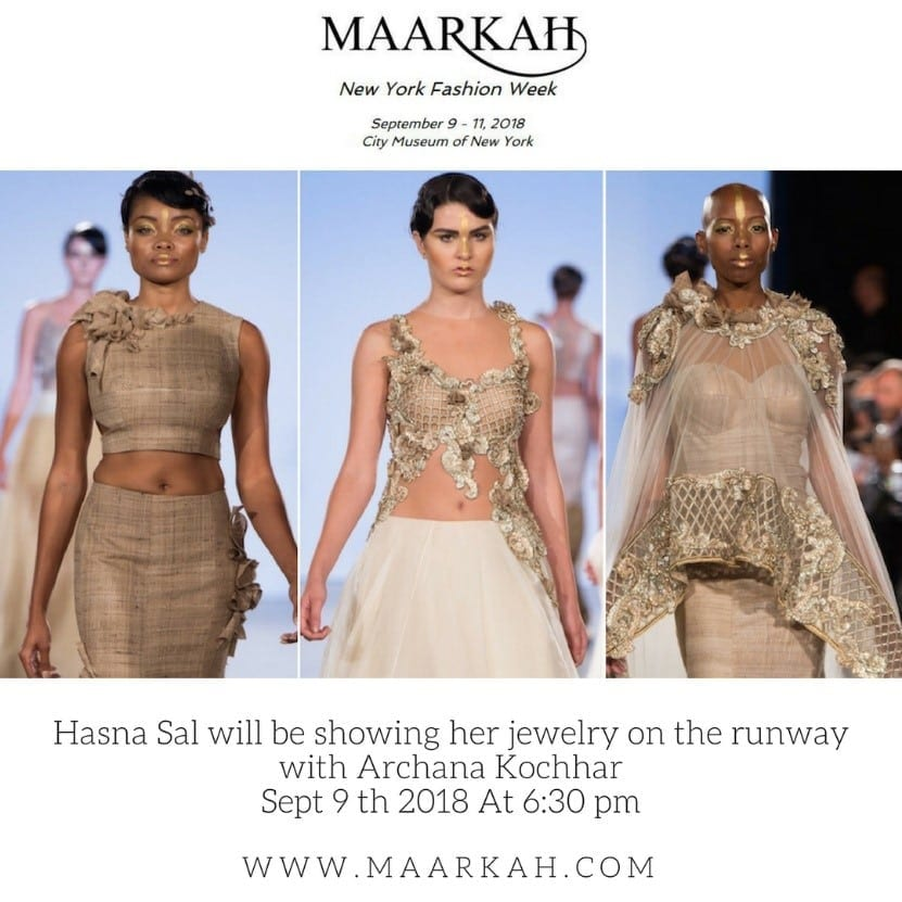 Hasna Sal Partners With Indian Designer Archana Kochar For Maarkah